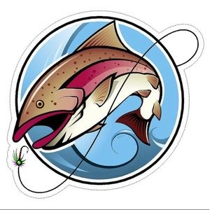 """6"""" Decal Sticker- TROUT"""